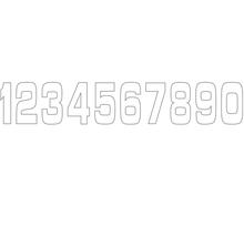 Siffror 10st, 11 X 5 cm, Vit 1