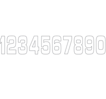 Siffror 10st, 11 X 5 cm, Vit 9