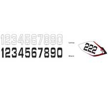 Siffror Små 10st, 14,5 * 7 cm Svart 8