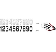 Siffror Små 10st, 14,5 * 7 cm Svart 9