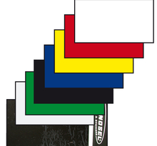 Nummerplåtsplast Tjock Svart 35*80 cm