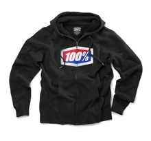 100%, OFFICIAL ZIP HOODED SWEATSHIRT, VUXEN, XL, SVART