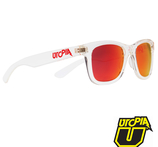 Utopia Malibu Solglasögon Transparenta bågar/Röd lins